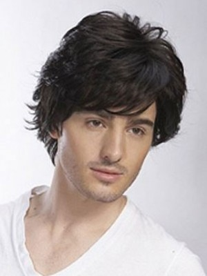 100% Hand-Tied Full Lace Mens Wig