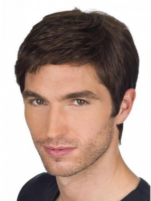 Chic Full Lace Human Hair Mens Wig