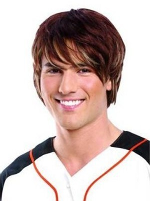 Handsome Lace Front Human Hair Mens Wigs
