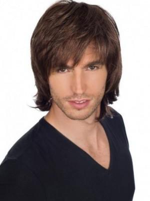 Attractive Human Hair Straight Capless Wig