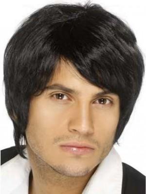 Fancy Human Hair Mens Capless Mens Wig