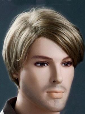 Stylish Soft Blonde Short 6 Inch Mens Wig