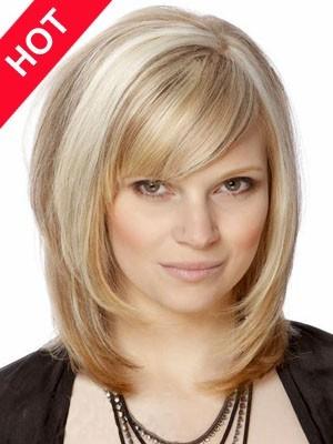 Shoulder Length Cheap Human Hair Wig