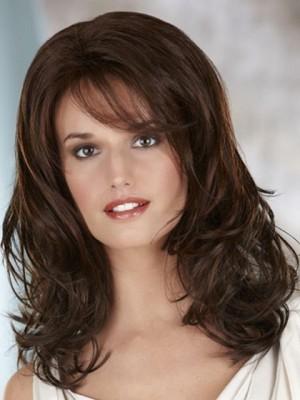 Stylish Shoulder Length Wavy Lace Front Wig
