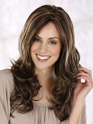 New Style Long Centre Parting Layerd Wavy Wig