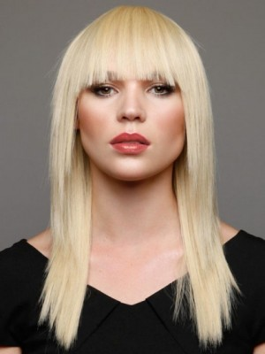Beautiful Layers and Full Blunt Bang Synthetic Wig