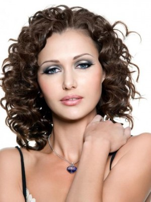 Impressive Curly Lace Front Synthetic Wig