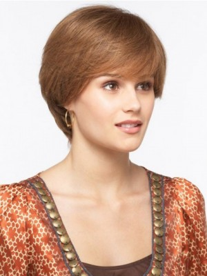 Flattering Capless Straight Synthetic Wig