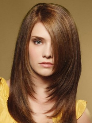 Affordable Lace Front Straight Synthetic Wig