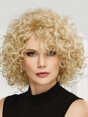 Attractive Lace Front Curly Synthetic Wig