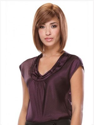 Smooth Capless Straight Synthetic Wig