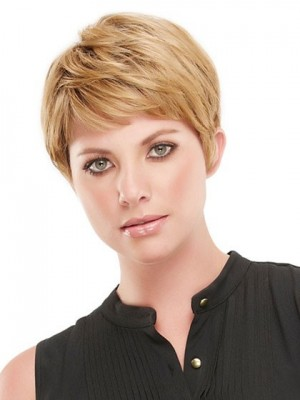 Nice Open Cap Short Straight Synthetic Wig
