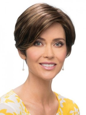 Romantic Pixie Cut with a Smooth Wig