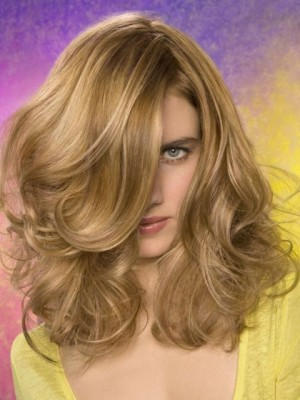 Romantic Spiral Wavy Lace Front Synthetic Wig