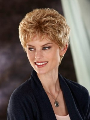 Fashionable Slightly Waves Short Synthetic Wig