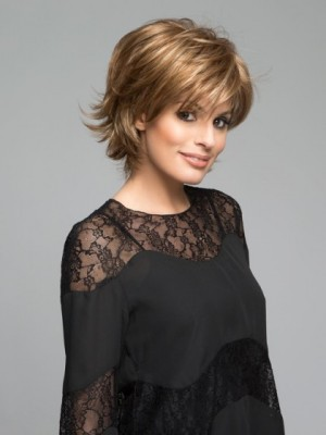 Bob Style Synthetic Wig With Wispy Ends