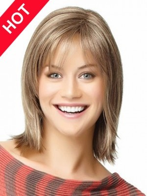 Romantic Synthetic Top Straight Wig