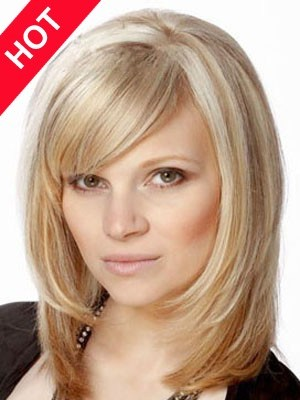 Synthetic Shoulder Length Chemotherapy Wig