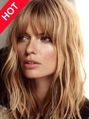 Lob Hairstyle Wavy Synthetic Wig