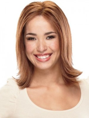 Comfortable Lace Front Straight Synthetic Wig