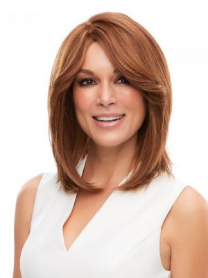 Elegant Lace Front Straight Synthetic Wig