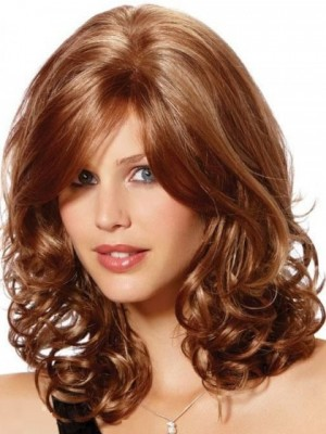 Amazing Wavy Lace Front Shoulder Length Synthetic Wig