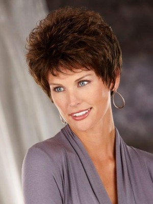Classic Synthetic Wig with Spiky Texture
