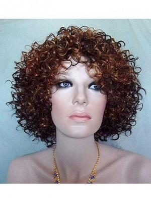 Polished Curly Synthetic Capless Wig for Woman