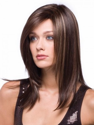 Fashion Medium Length Synthetic Wig