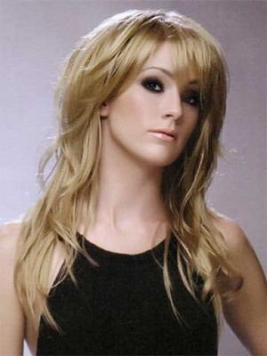 Stunning Long Wavy Synthetic Wig For Women