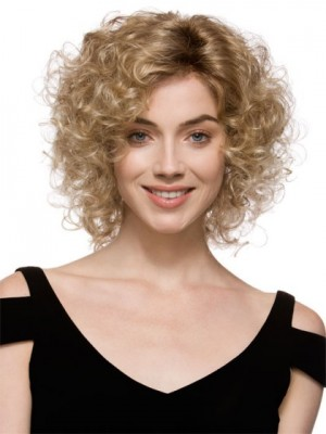 Classic Medium Curly Synthetic Wig