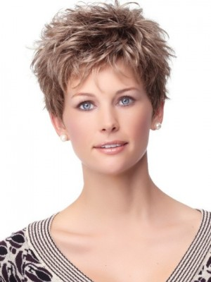 Romantic Short Capless Synthetic Wig