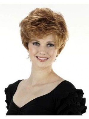 New Style Short Wavy Capless Synthetic Wig