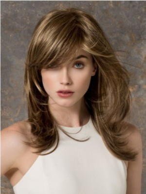 Chic Cheap Long Wavy Monofilament Blonde Wig