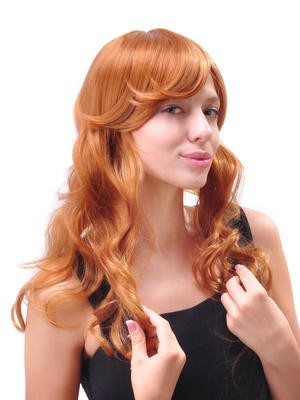 Fashionable Long Wavy Capless Synthetic Wig