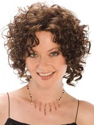 Cute Medium Length Curly Synthetic Wig