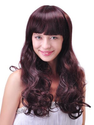 Fashion Comfortable Long Synthetic Wavy Capless Wig
