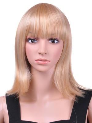 Stunning Medium Straight Capless Wig