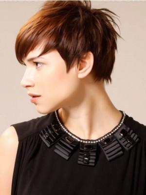Nice Short Straight Boycut Synthetic Wig
