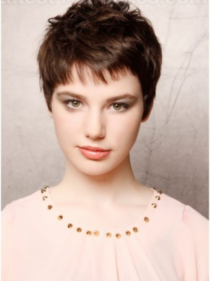 Chic Satisfied Short Capless Synthetic Wig With Straight Style