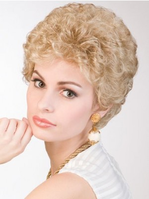 Synthetic Curly Medium Lace Front Wig