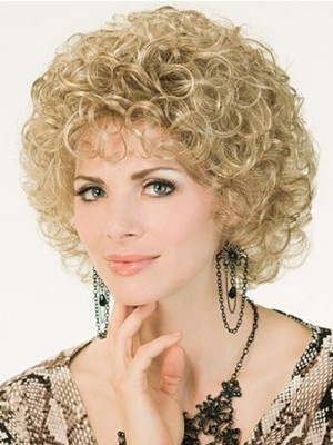 Capless Short Curly Stylish Synthetic Wig