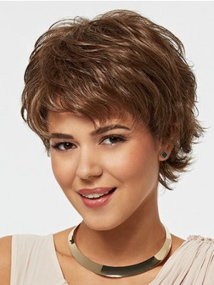 Synthetic Layered Straight Attractive Wig