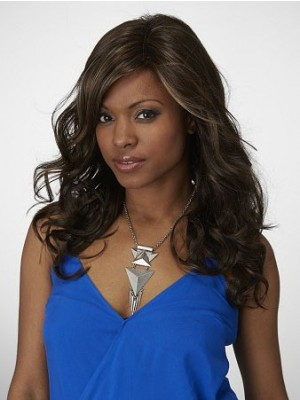 Fashionable Wavy Long Capless Synthetic Wig