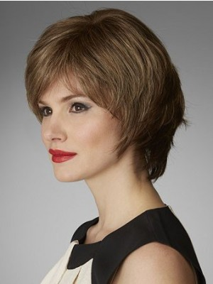 Cute Wavy Layered Short Length Synthetic Wig