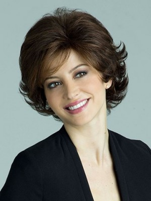Most Popular Wavy Short Length Capless Synthetic Wig