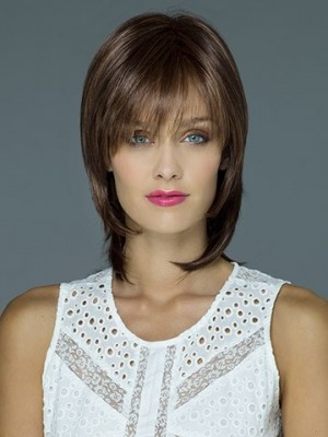Pleasant Medium Length Straight Synthetic Wig