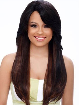 Classic Straight Long Capless Synthetic Wig
