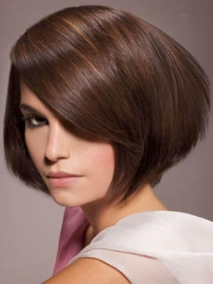 Classic Short Length Lace Front Straight Synthetic Wig