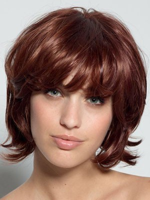 Natural Short Lace Front Wavy Synthetic Wig